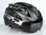 MagnaShield Bicycle Helmet - Black and Silver