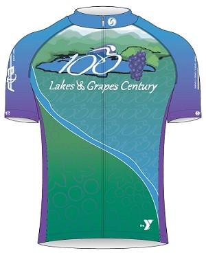 2015 Lakes and Grapes Century Ride  Short Sleeve Jersey