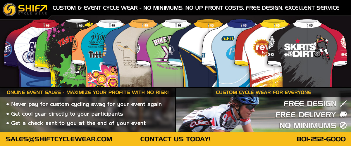 Custom Event Cycle Jerseys from Shift Cycle Wear