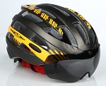 MagnaShield Bicycle Helmet - Black and Amber